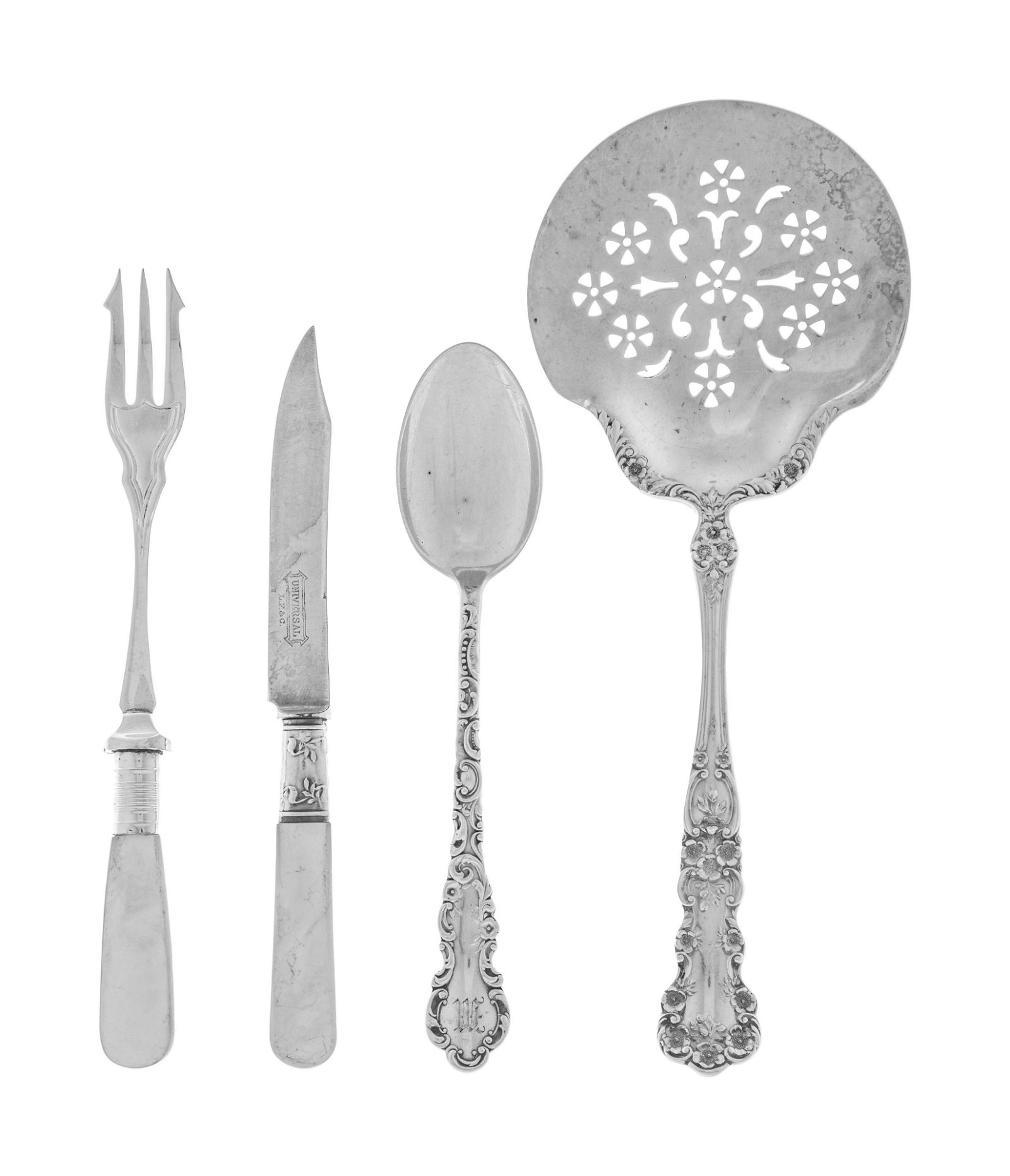 A Collection of Silver and Silver-Plate Flatware