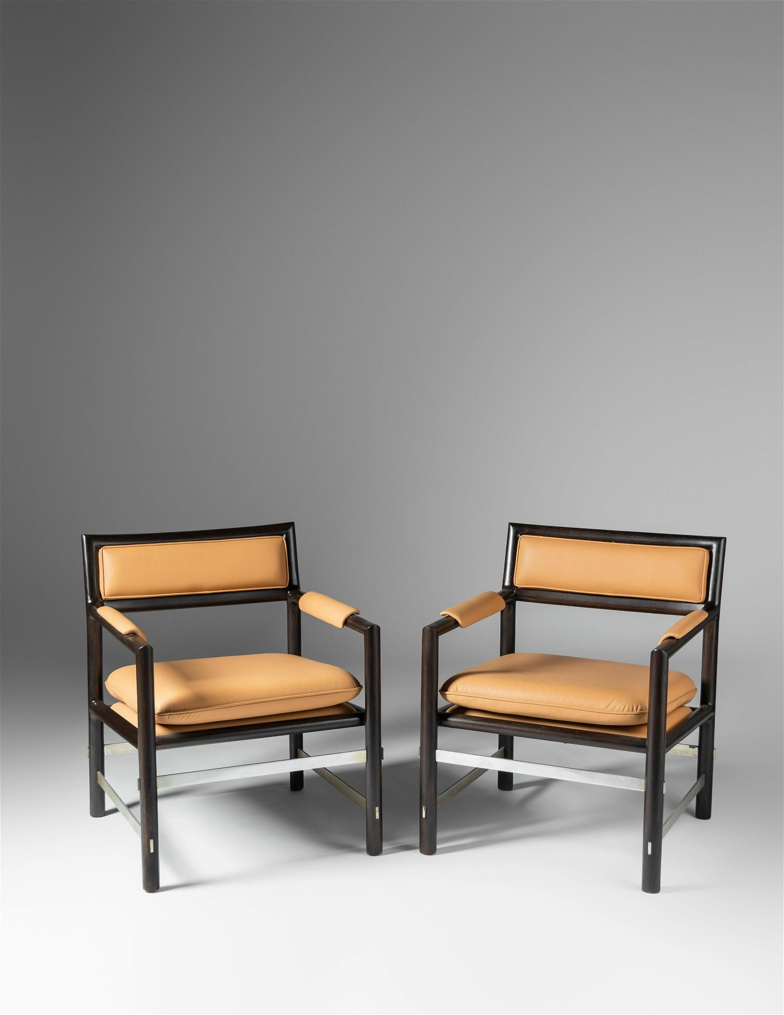 Edward Wormley (American, 1907-1995) Pair of Armchairs,