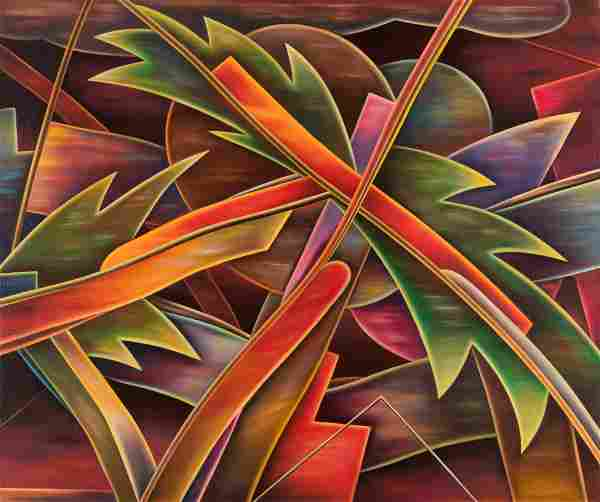 William Conger (American, b. 1937) Red Night, Chicago,