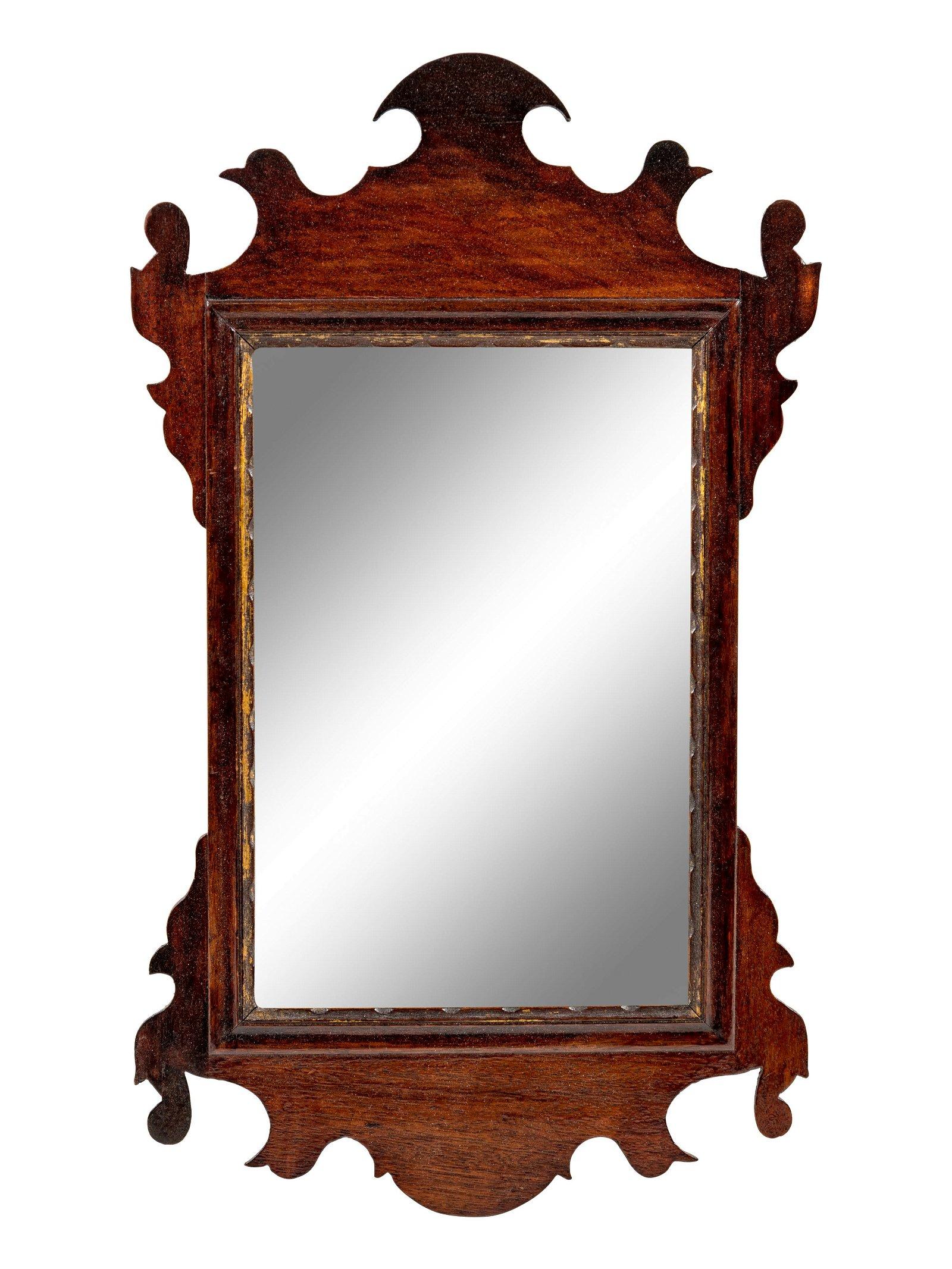 A George III Carved Mahogany Mirror