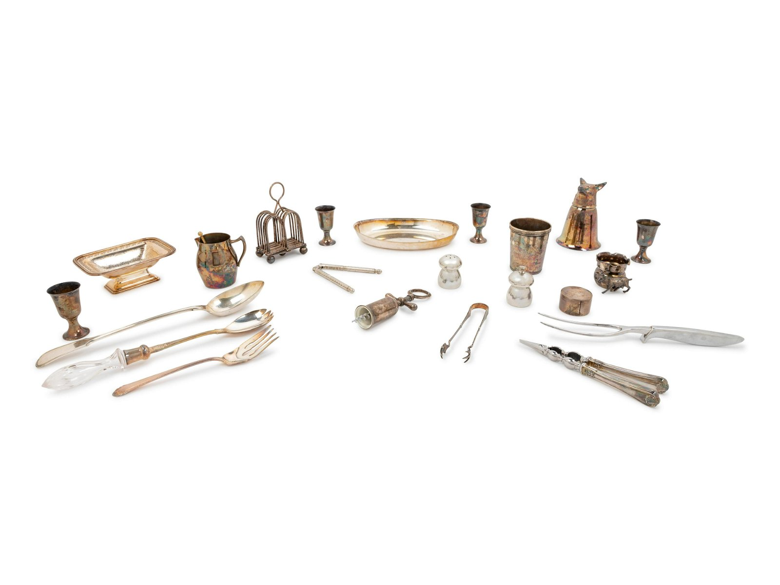 A Collection of Silver-Plate Table and Flatware