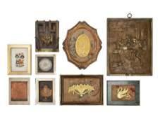 Nine Framed Decorative Articles
