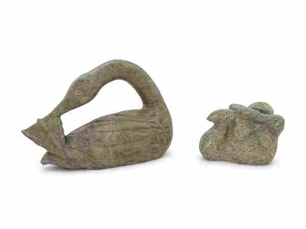Two Inuit Carved Stone Figures