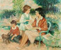 Pierre Eugene Duteurtre (French, 1911-1989) Famille au