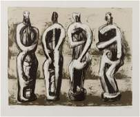 Henry Moore (British, 1898-1986) Four Standing Figures,