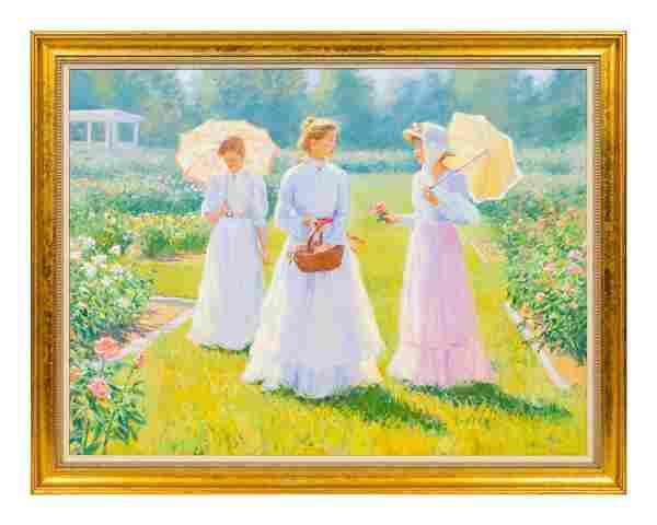 Gregory F. Harris (American, b. 1953) Three Ladies in