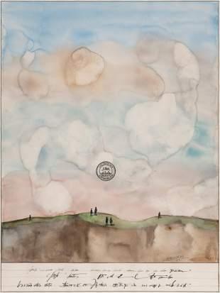 Saul Steinberg (American, 1914-1999) Mesa with Figures,