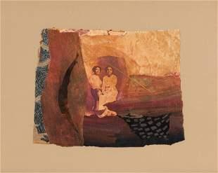 Betye Saar (American, b. 1926) Two Women with Leaf,