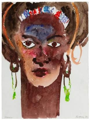 Rainer Fetting (German, b. 1949) Kenia, 1987