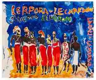 Malcolm Morley (American, 1931-2018) African Warriors,