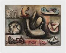 Henry Moore (British, 1898-1986) Sculptural Ideas 6,
