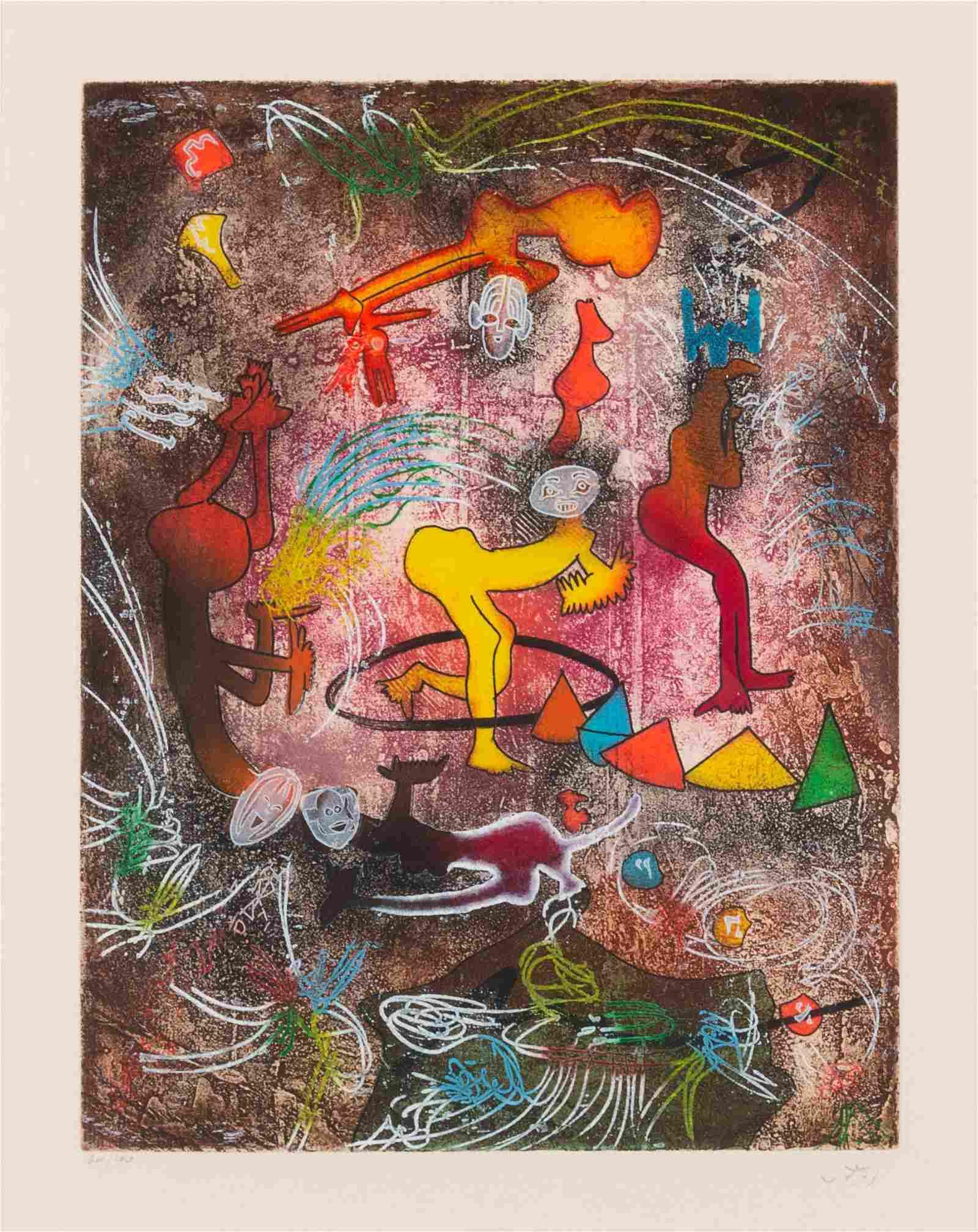 Roberto Matta (Chilean, 1911-2002) Circus I, c. 1980