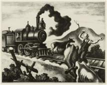 Thomas Hart Benton American 18891975 Slow Train