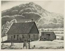 Rockwell Kent (American, 1882-1971) Adirondack Cabin,