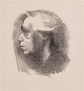 Kathe Kollwitz (German, 1867-1945) Selbstbildnis, 1919