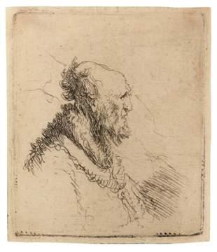 Rembrandt Harmenszoon van Rijn (Dutch, 1606-1669) Bald