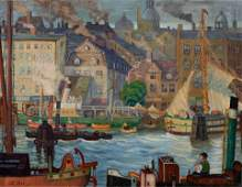 John Ellsworth Weis (American, 1892-1962) Harbor, 1927