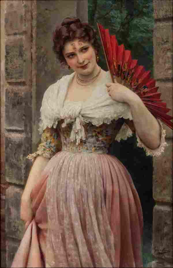 Eugene De Blaas (Austrian, 1843-1932) Portrait of a