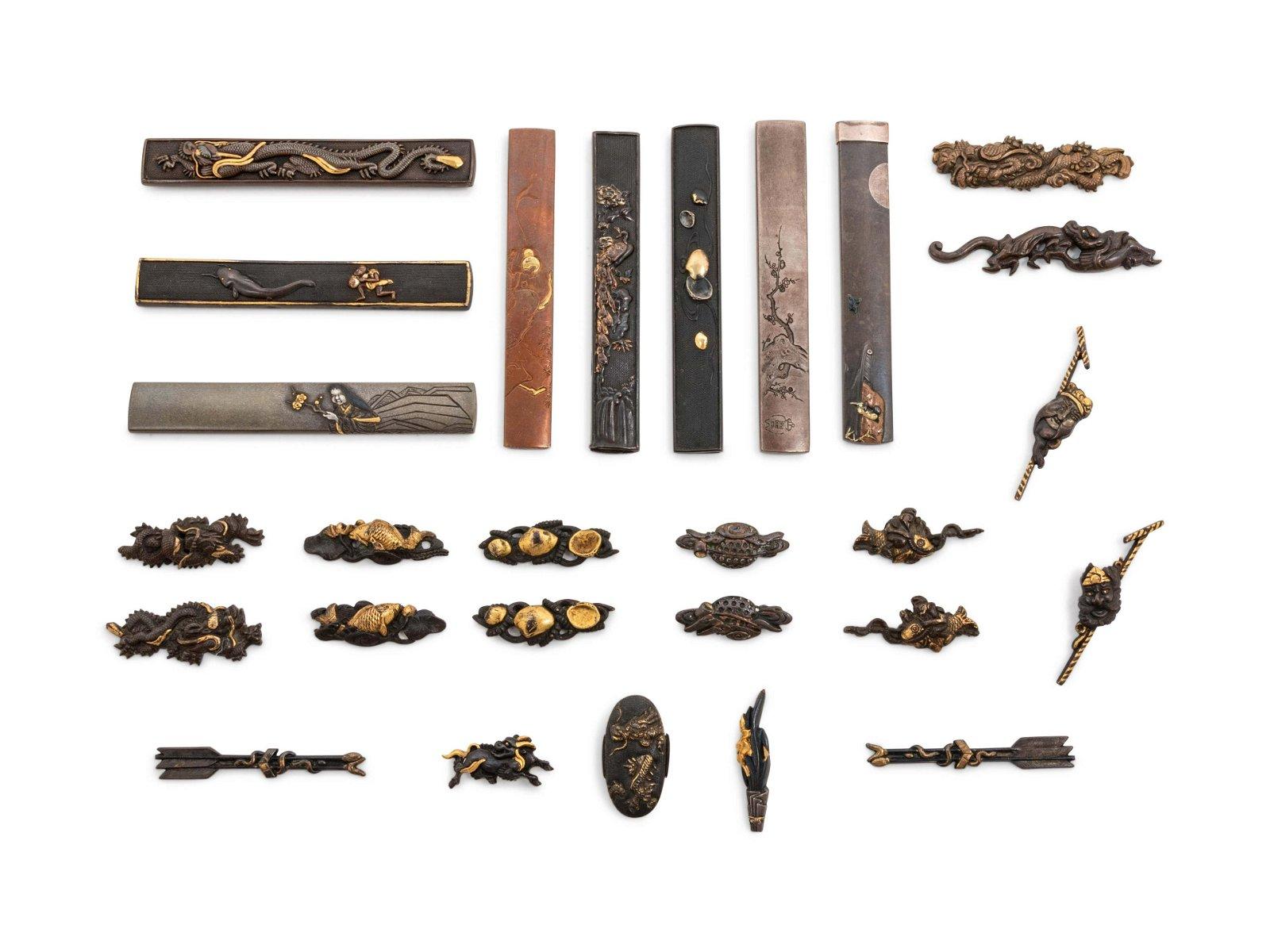 Twenty-Seven Mixed Metal Sword Fittings