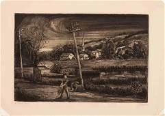 Emil Ganso (American, 1895-1941) A pair of prints