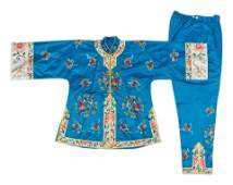 Three Chinese Silk Embroidered Lady's Articles