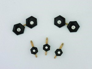 7: A Gentleman's Yellow and White Gold, Black Onyx and