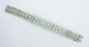 8: A Lady's Platinum and Diamond Bracelet, Length 7 1/4