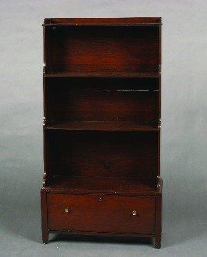 103: A Mahogany Diminutive Bookcase, Height 45 x width