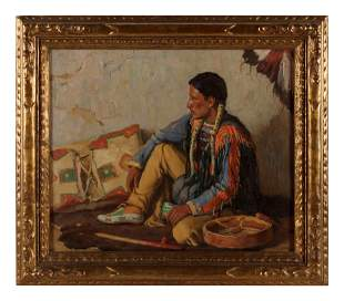 Joseph Henry Sharp (American, 1859-1953) Portrait of