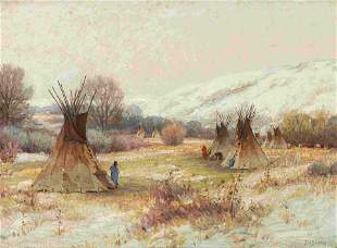 Joseph Henry Sharp (American, 1859-1953) Wind River