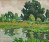 Gary Michael (American, b. 1937) Quiet Pond