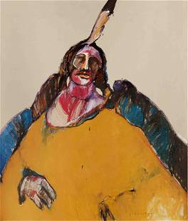 Fritz Scholder (American, 1937-2005) Indian Messiah,