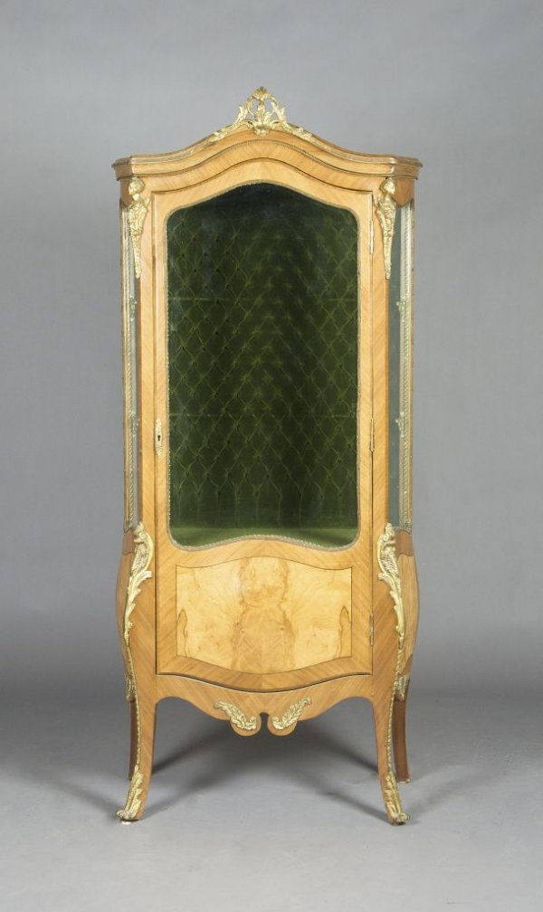 3: A French Vitrine, Height 67 x width 25 x depth 15 in