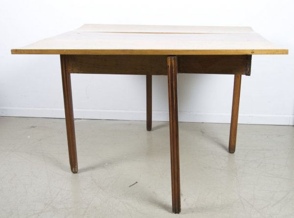 10: An American Drop-Leaf Table, Height 28 x width 42 x
