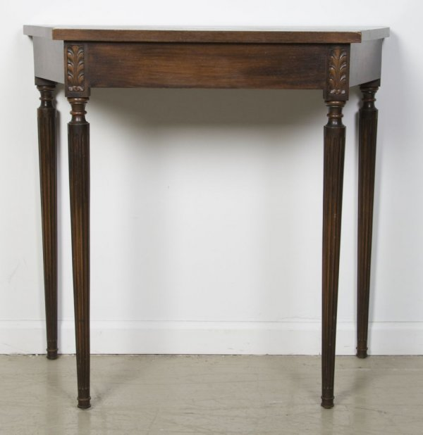11: A Georgian Style Mahogany Console Table, Height 29