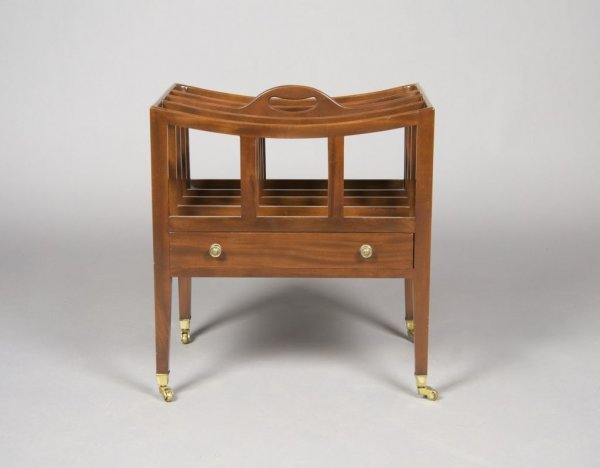 14: A George III Style Mahogany Canterbury, Height 19 1