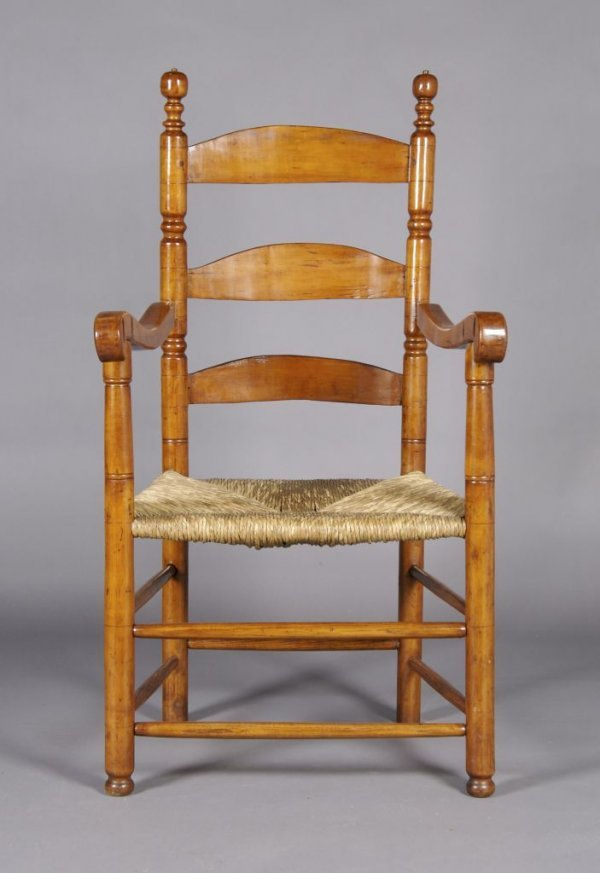 15: An American Cherry Arm Chair, Height 46 1/2 x width