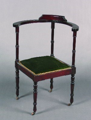 435: A Mahogany Corner Chair,