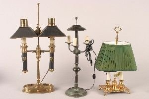438A: A Collection of Three Table Lamps,