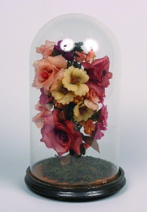 443: A Waxed Floral Arrangement, Height 16 inches.