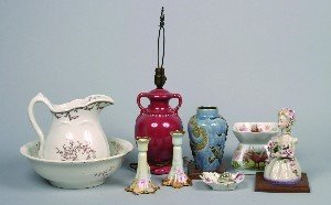 450: A Collection of Various Porcelain Articles,