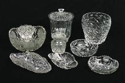557: A Collection of Cut Glass Articles, Height of tall
