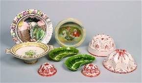 896: A Group of Continental and English Porcelain and C