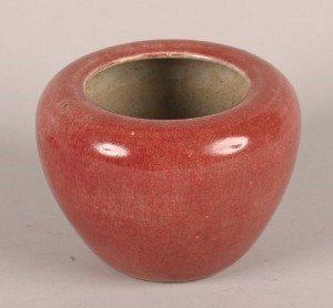 1146: A Chinese Peachbloom Glazed Ceramic Scholars' Wat