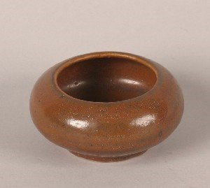 1150: A Chinese Persimmon Glazed Ceramic Washer, Height