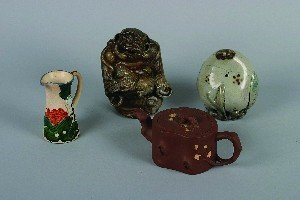 1157: A Group of Asian Ceramic Articles, Height of tall