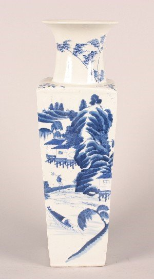1162: A Chinese Blue and White Porcelain Vase, Height 2