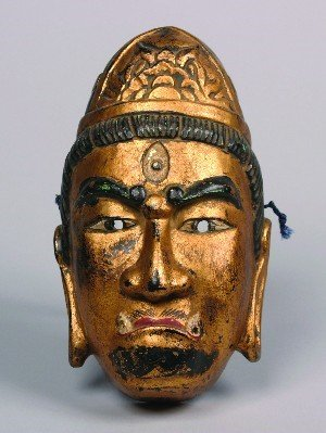 1349: A Japanese Bugaku Mask of Yasha-o (a Demon King),