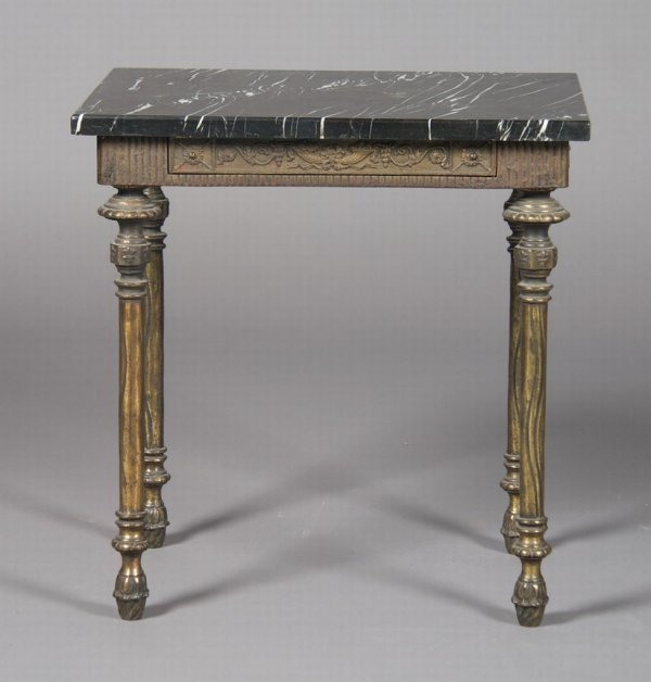 18: A Neoclassical Brass and Marble Low Table, Height 2