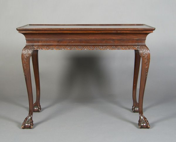 23: A George II Style Mahogany Center Table, Height 30